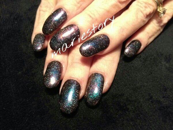 Galaxy nails by @ mariestory