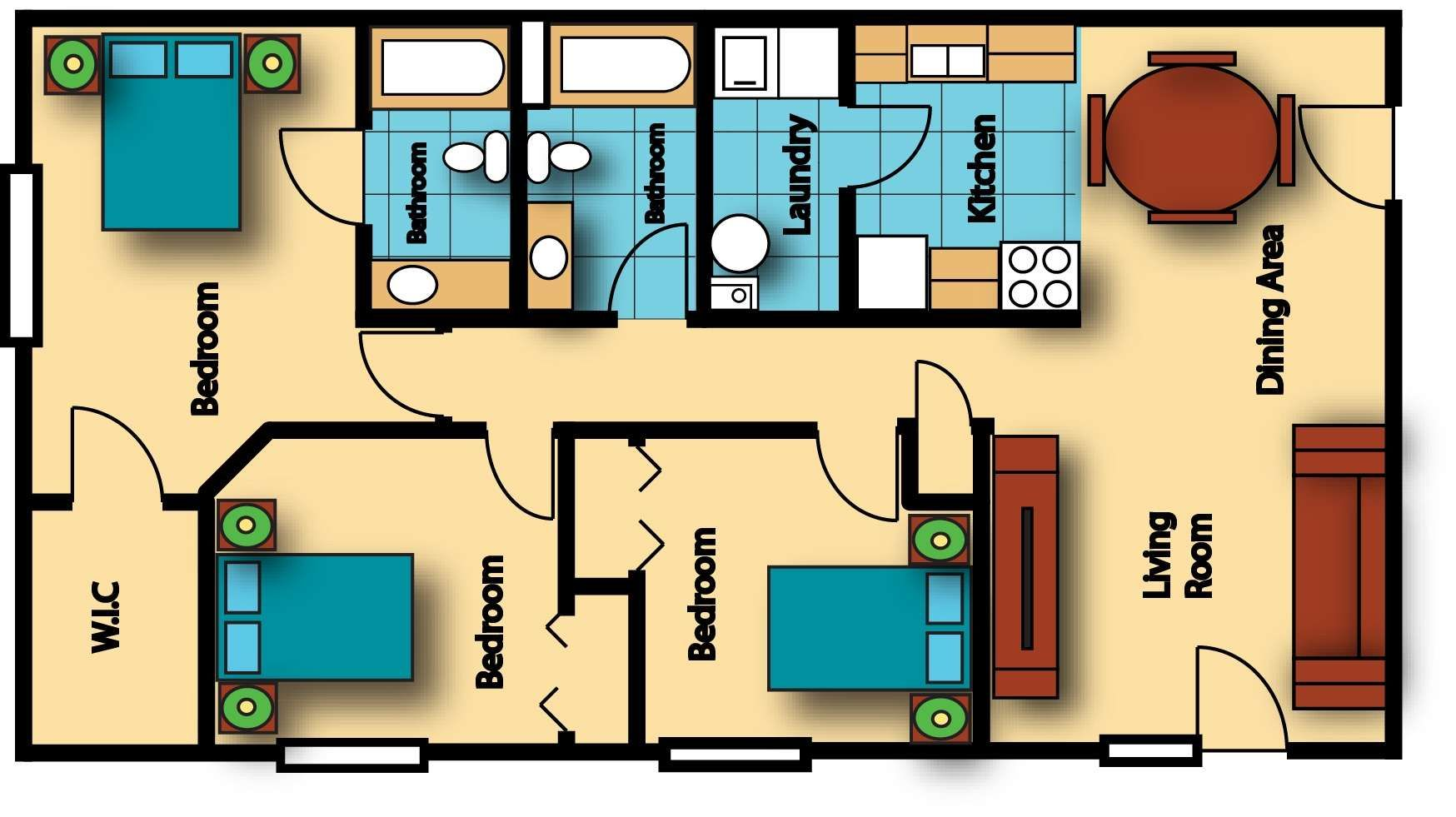 Modern House Plans Under Sq Ft Inspirations 800 3 Bedroom In ... on