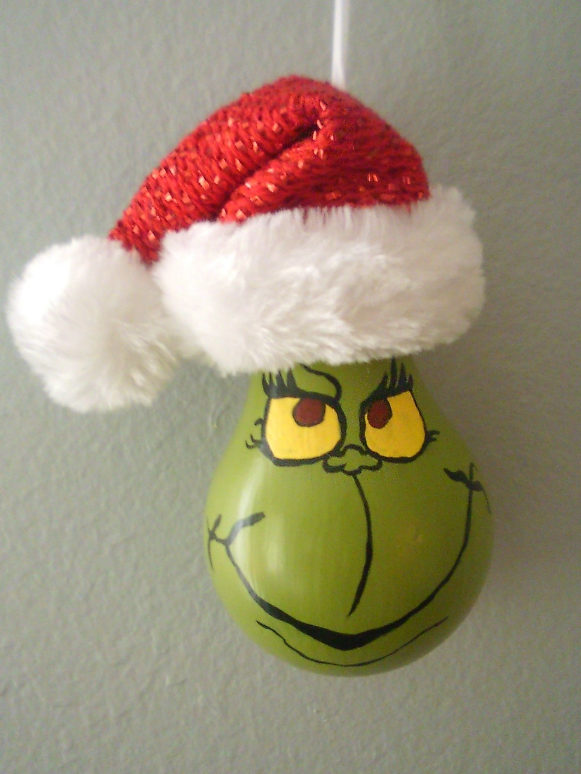 Grinch Made From Light Bulb Holiday Crafts Diy Christmas Crafts Homemade Christmas