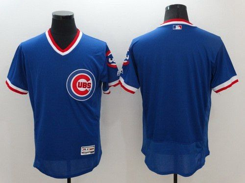 mens chicago cubs blank retired blue pullover 2016 flexbase majestic baseball jersey