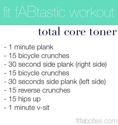core toning workout