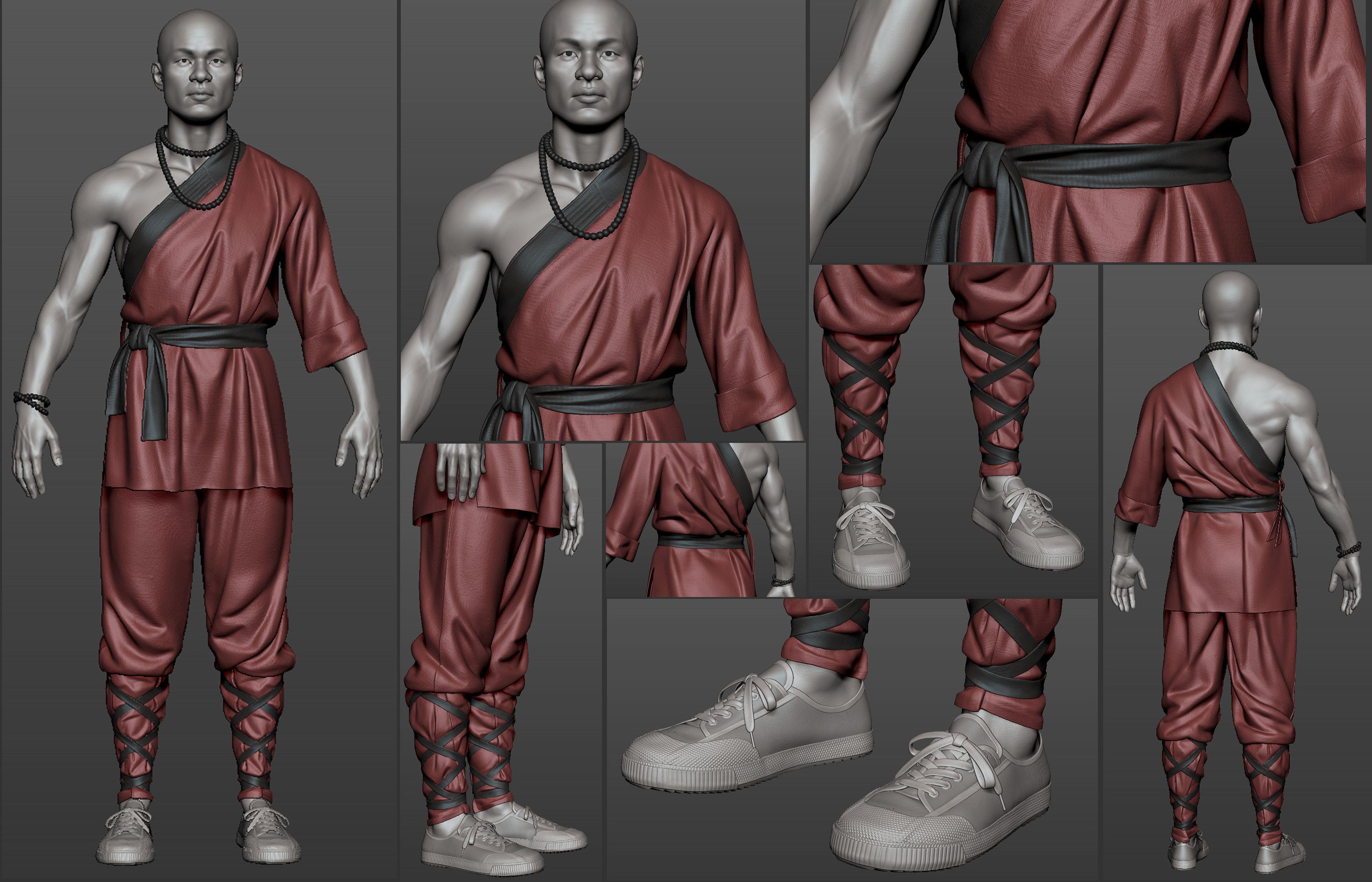 Artstation Monk Yuriy Porubov Cool Outfits Model Marvelous Designer
