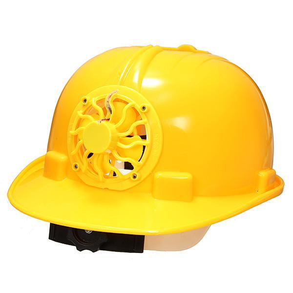 Solar Powered Safety Helmet Hard Ventilate Hat With Cooling Cool Fan Safety Helmet Helmet Cooling Fan