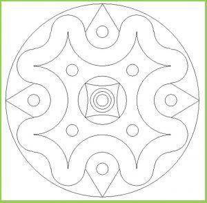 Mandala Colouring Pages for Kindergarten Free Printable Mandala