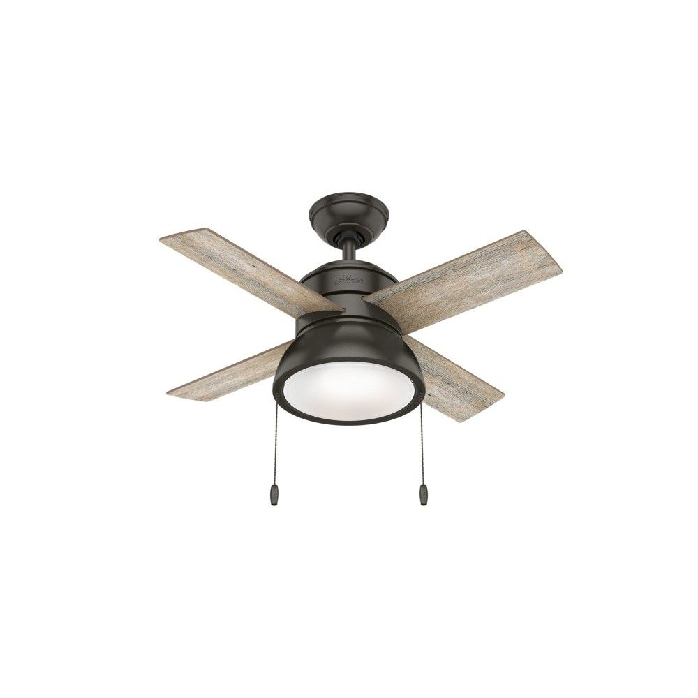 Hunter Fan Company Loki 36 Inch Small Living Room Home Ceiling Fan With Led Light Noble Bronze Bronze Ceiling Fan Ceiling Fan Led Ceiling Fan 36 inch ceiling fan with light
