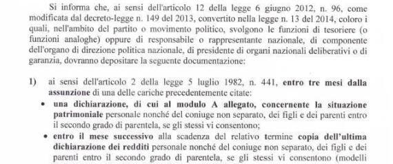 #Grillo è obbligato a trasmettere a #Grasso la dichiarazione dei #redditi?