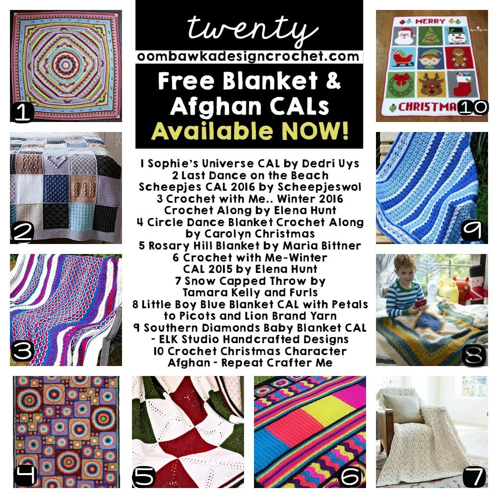 20 Free Blanket and Afghan CALS Available Now! | Patrón gratis ...