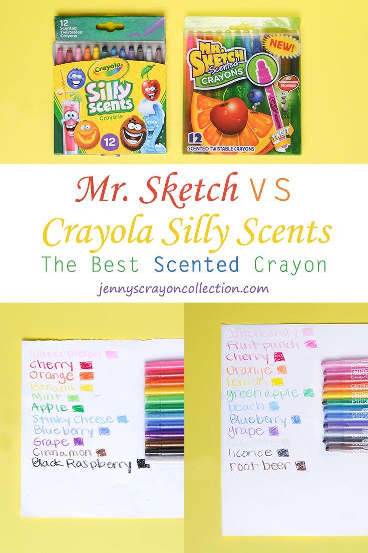 Mr Sketch Vs Crayola Silly Scents Scented Crayons Crayola Mr Sketch Scents