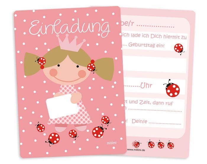 delightful Einladungskarten Kindergeburtstag Prinzessin #1: Einladung Prinzessin Kindergeburtstag rosa 5x
