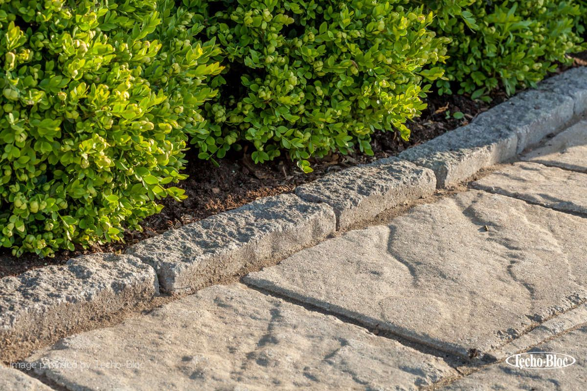 Traditional Landscape Edging Idea For This Project The Pietra Edge Was Used For This Pathway To Create Pavers Backyard Landscape Edging Garden Edging Stones