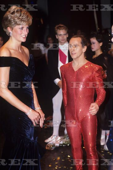 1991 11 03 Princess Diana at the Carnival For the Birds Gala, in London