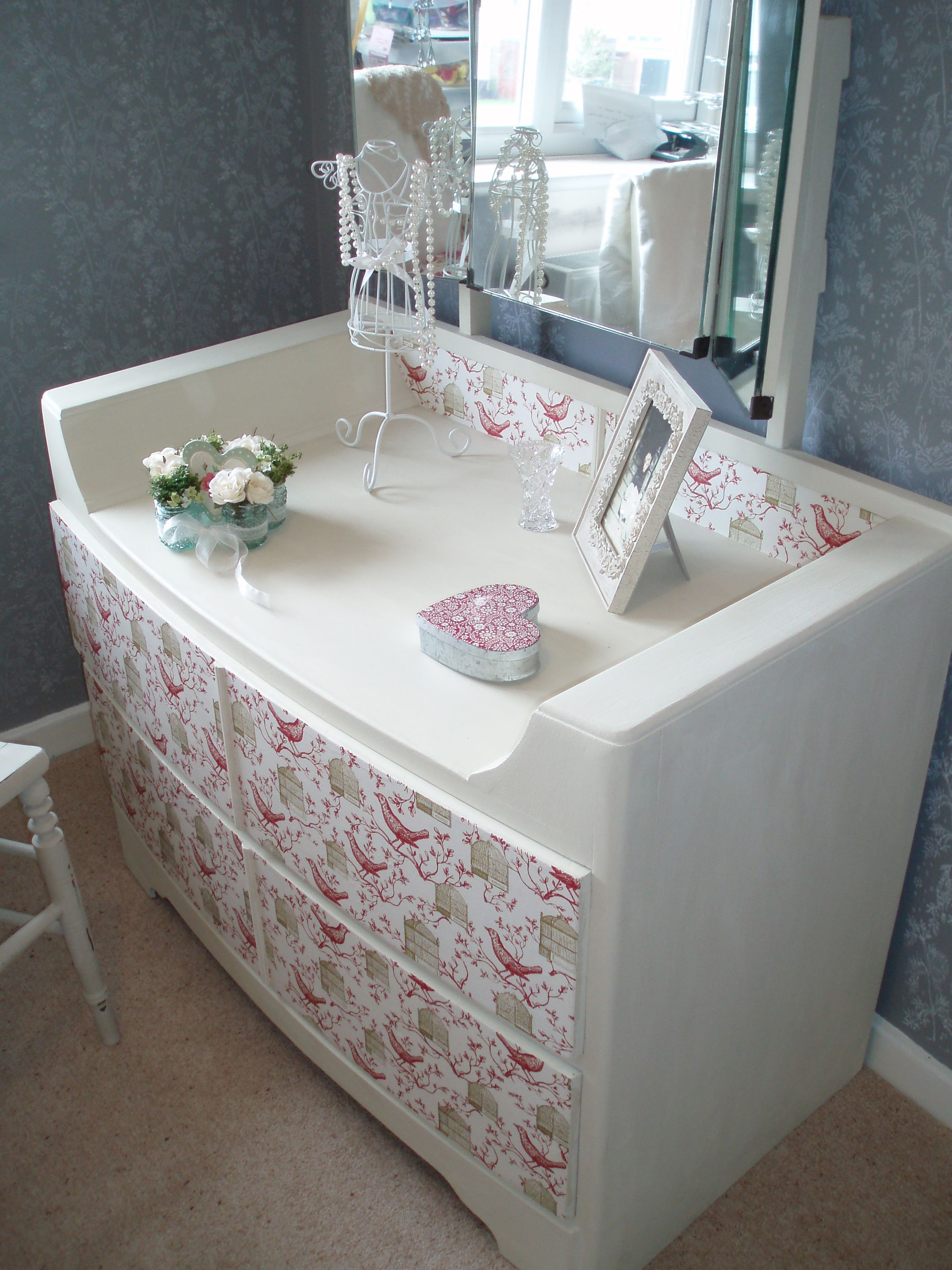 Bedroom Furniture 1950 S upcycled 1950's dressing table #handpainted #unique | diy projects