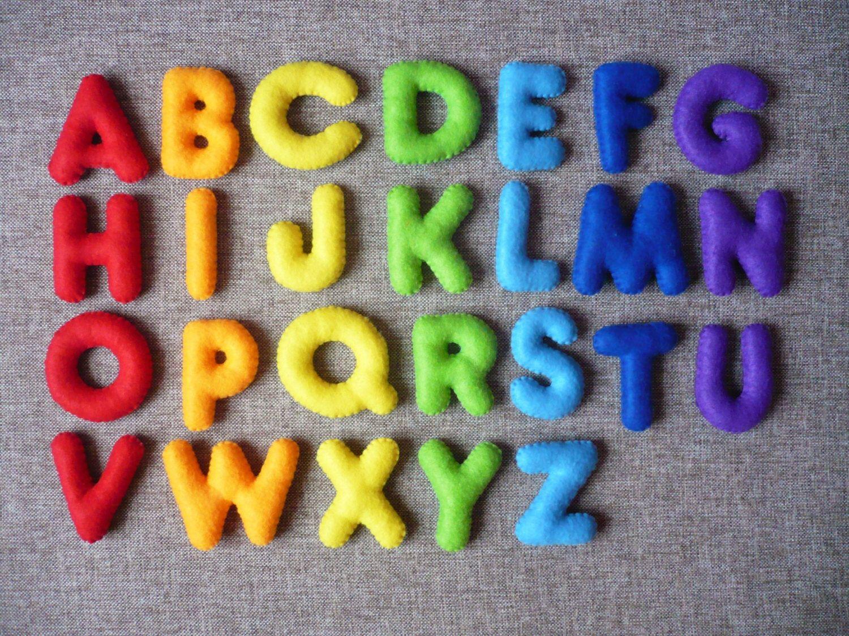 PDF Pattern Stuffed Felt Alphabet Felt English