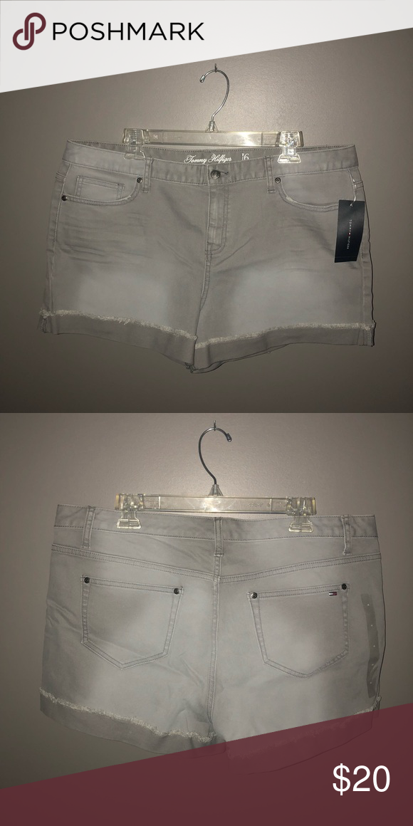 16de5b559 NWT Tommy Hilfiger Gray shorts Never worn, New with tags, Gray denim,  cuffed, minimal white wash effect Tommy Hilfiger Shorts Jean Shorts