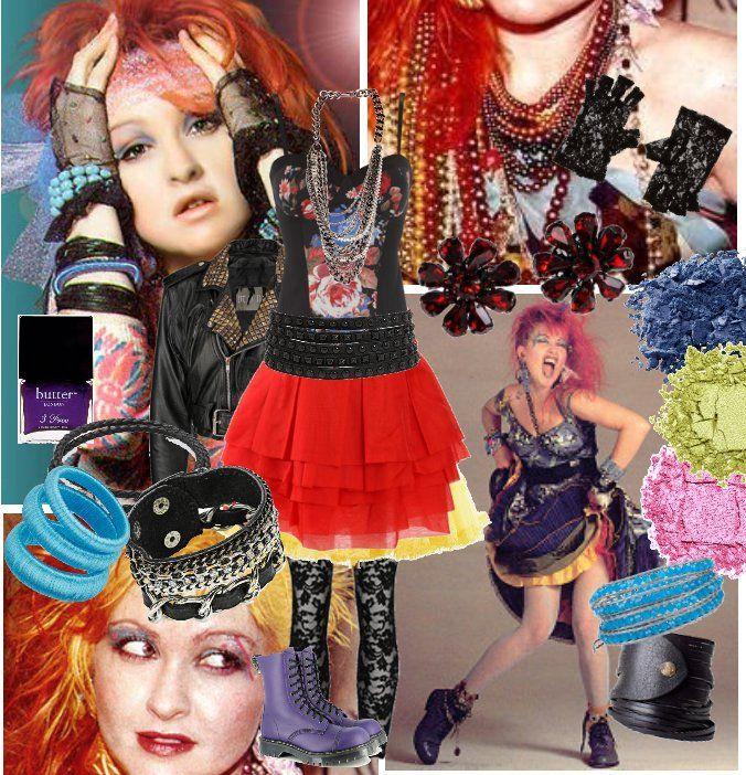cindy lauper outfit costume box pinterest kost me der 80er 80 jahre und 80er jahre mode. Black Bedroom Furniture Sets. Home Design Ideas