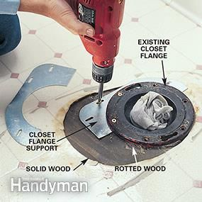 Replacing A Rotted Floor Under The Toilet Remodel Diy