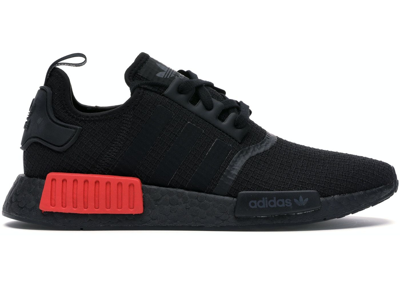 adidas NMD R1 Core Black Lush Red in