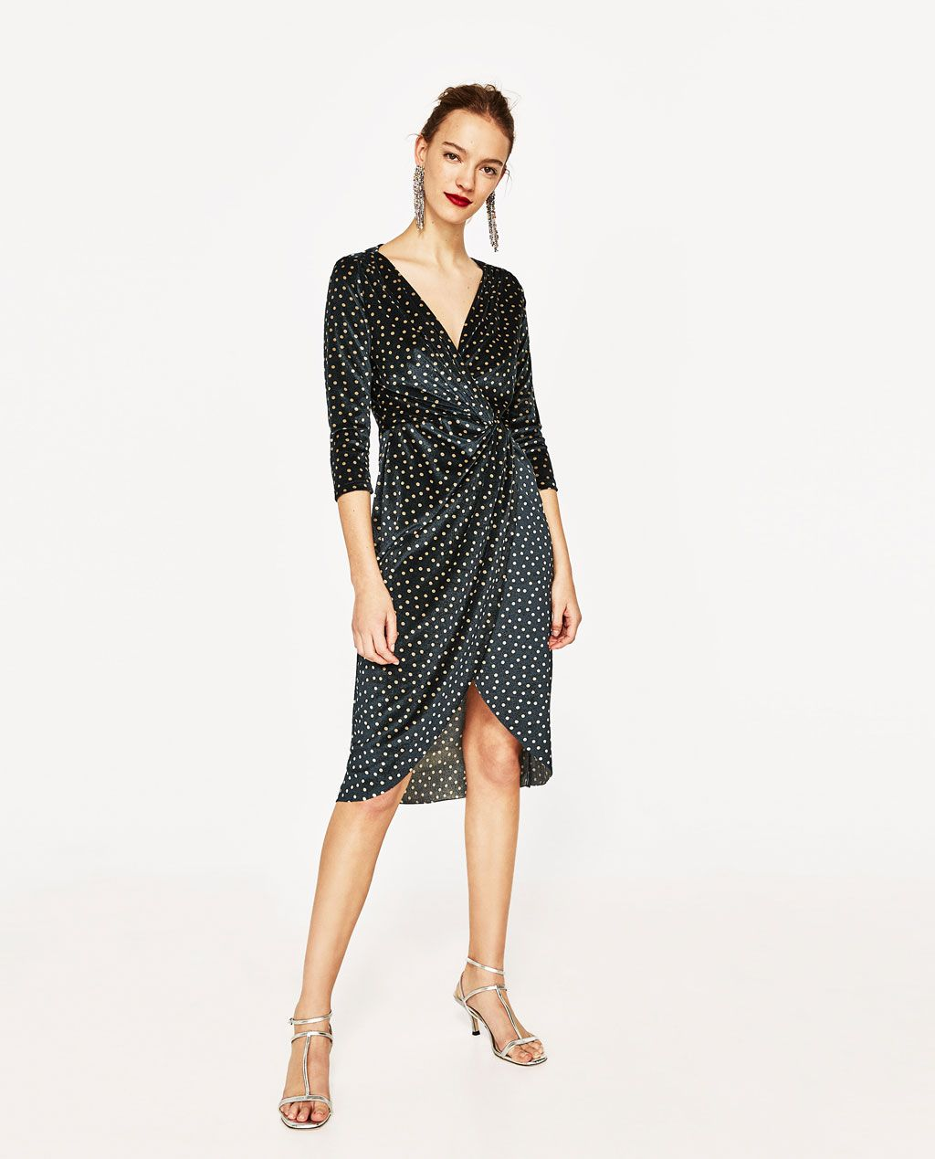8ecee56da POLKA DOT DRESS WITH CROSSOVER NECKLINE-DRESS TIME-WOMAN | ZARA ...