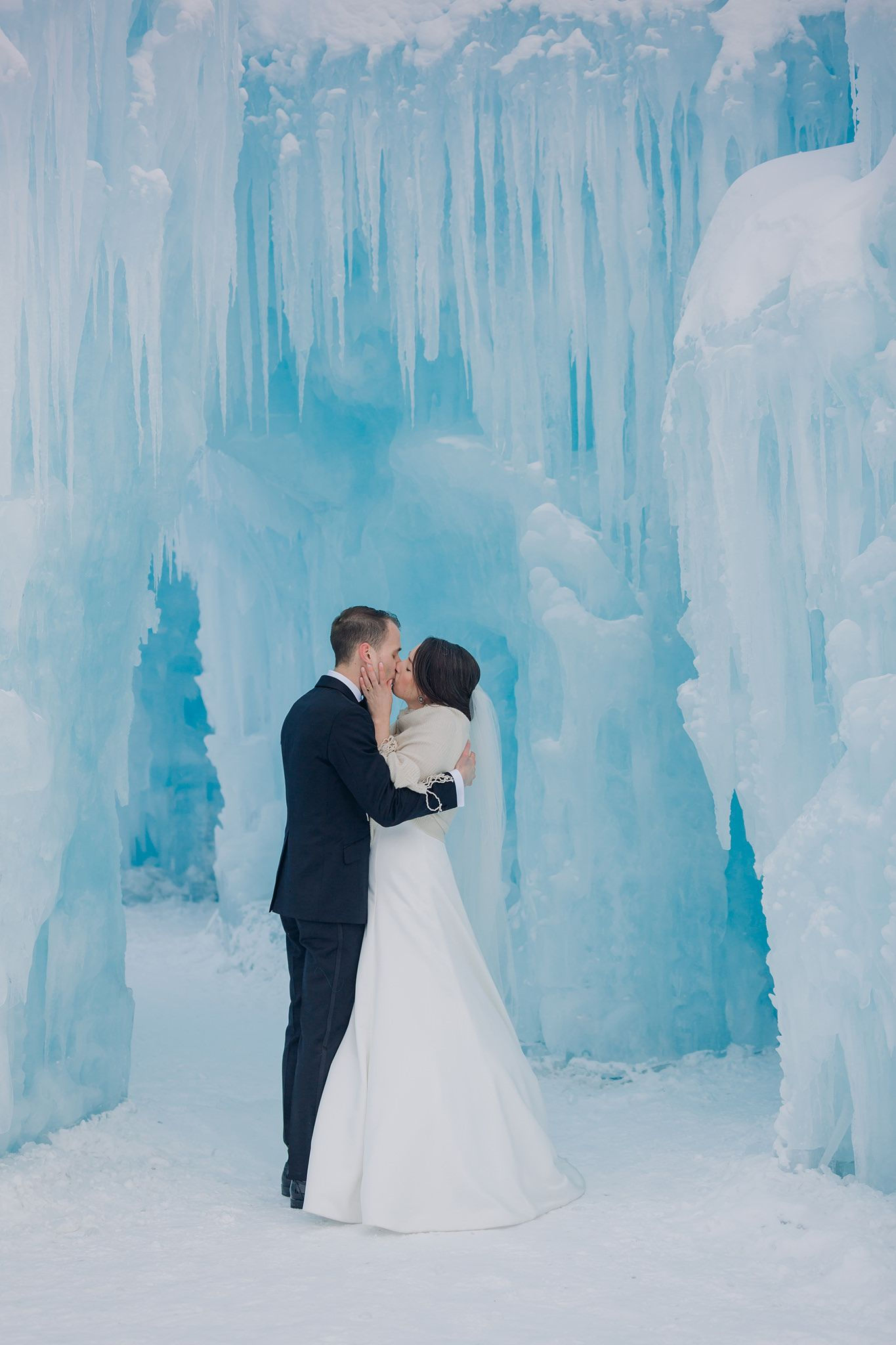 Frozen wedding portraits. Bride & Groom in Edmonton IceCastles. Ice Castle  wedding photos in… | Winter wedding locations, Winter wedding, Winter  wedding inspiration