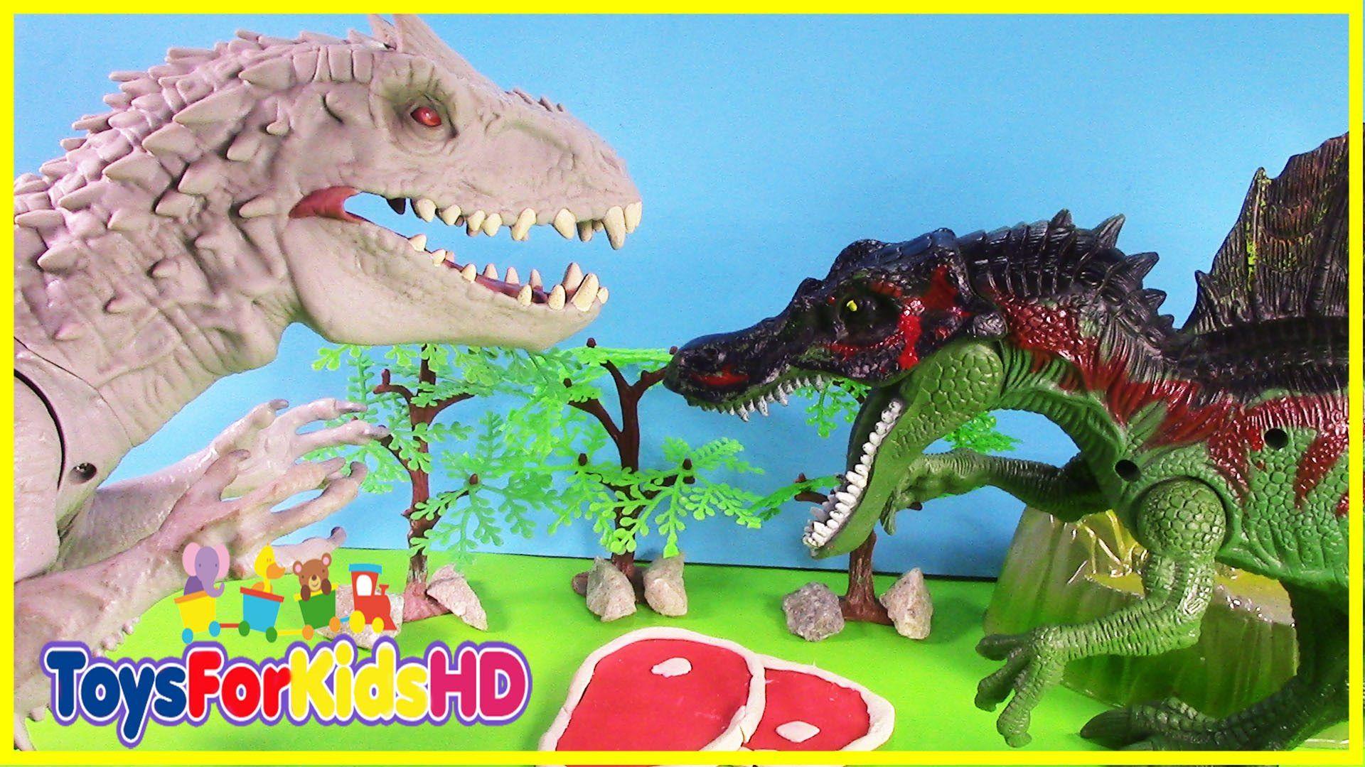 Los Dinosaurios para niños Spinosaurus v/s Indominus Rex - Videos de ...