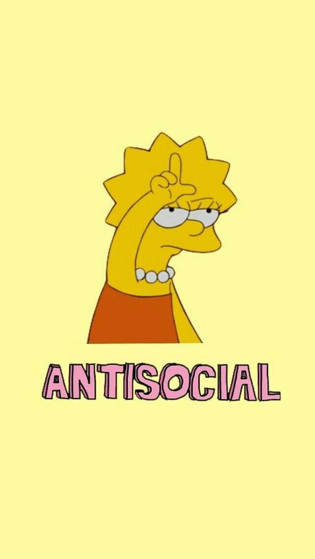 •antisocial//take the L//Lisa Simpson// the simpsons//mood