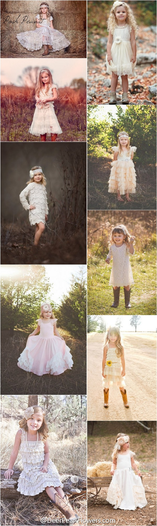 Dresses for a country wedding   Flower Girl Dresses For Country Weddings  Rustic country
