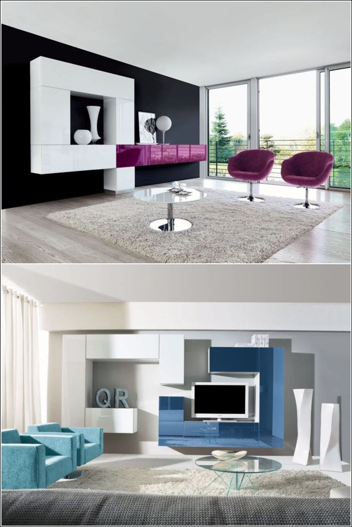 Contemporary Wall Units for Your Living Area!
