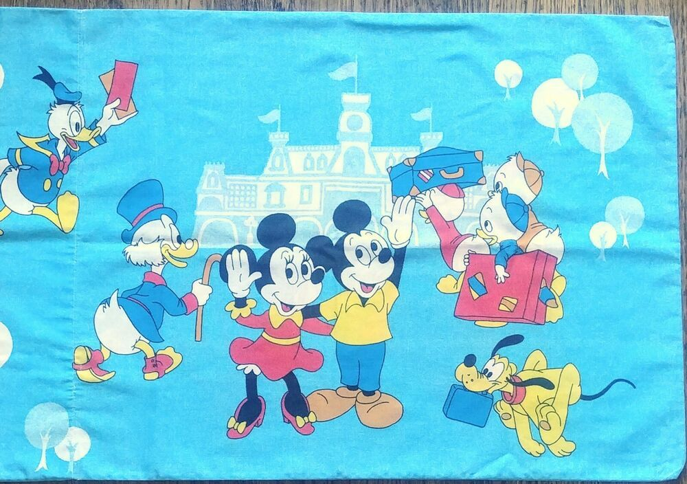 VINTAGE 60S 70S Mickey Mouse Pillow