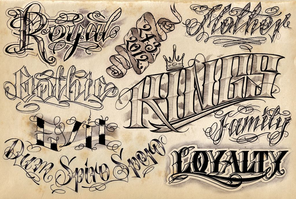 12 Cool Tattoo Lettering Designs