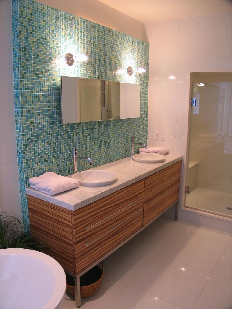 Mid Century Bathroom Tile | Williams Creek Mid Century Modern Master Bath |  WrightWorks LLC IN