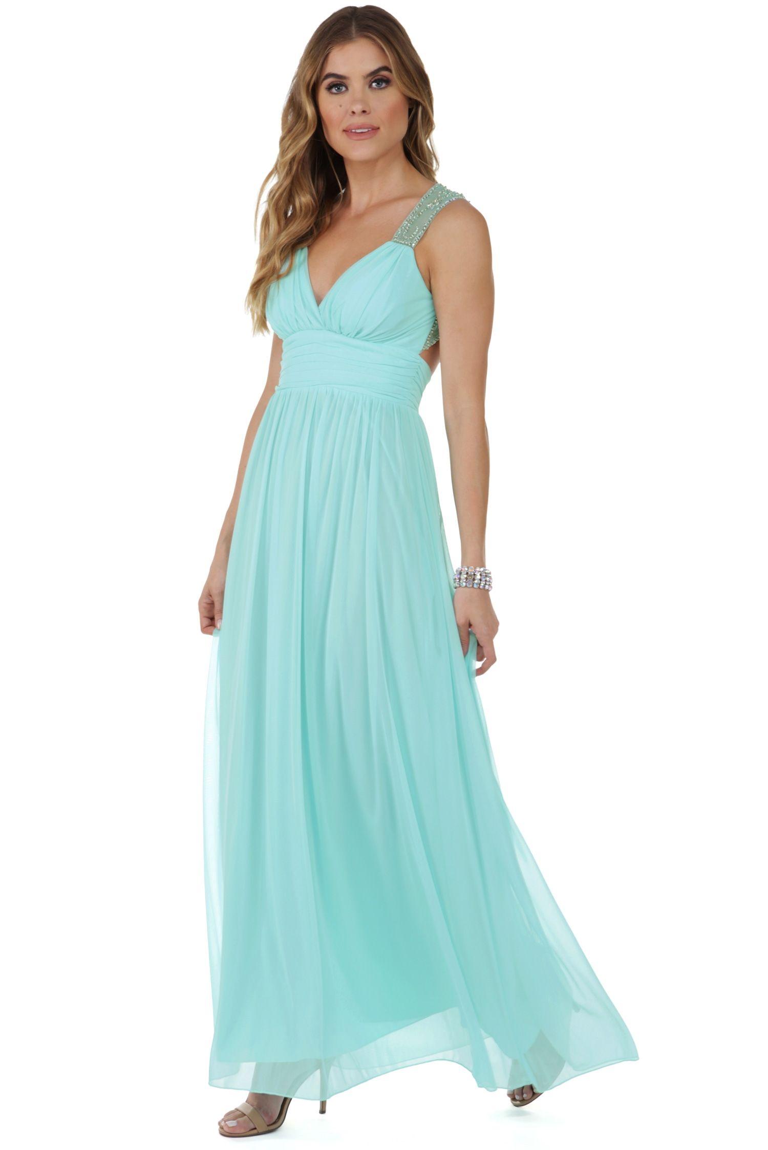 Kate Aqua Gem Formal Dress | Aqua, Gems and Formal