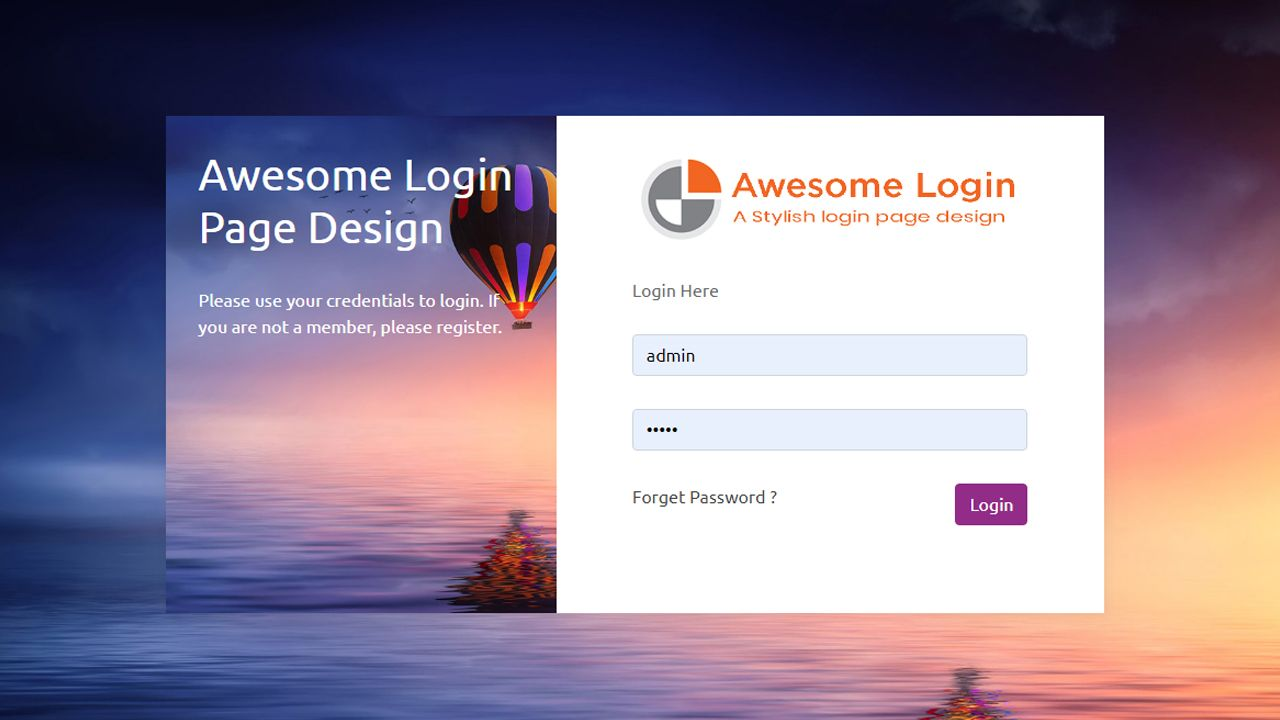 Download this free bootstrap login page template from
