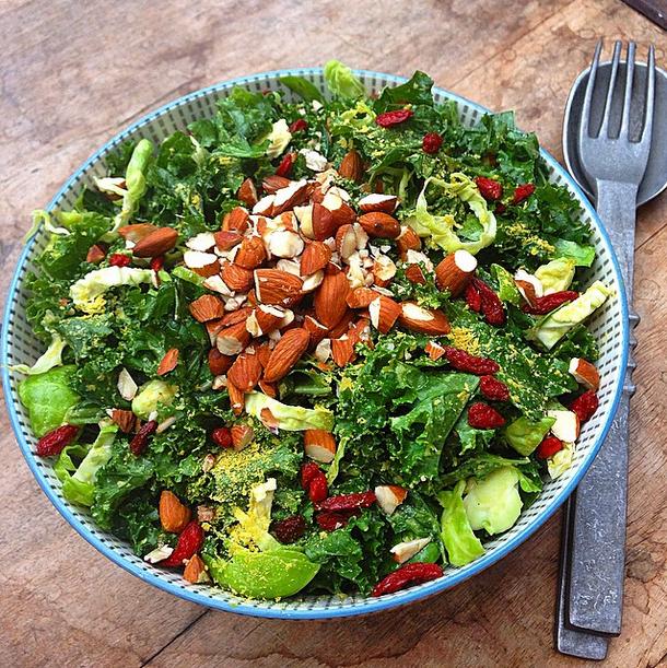 Delicious salad inspiration greens salad almonds recipes greens salad almonds recipes cooking photo credit forumfinder Images