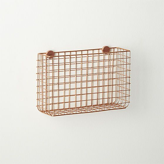 grid magazine storage | CB2 - for letters, magazines or in the bathroom