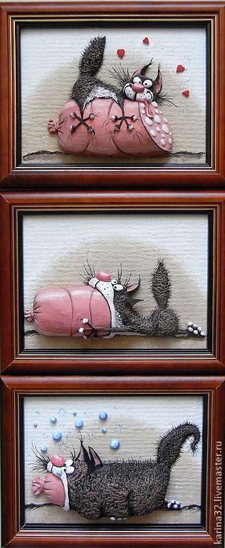 Панно с котом своими руками