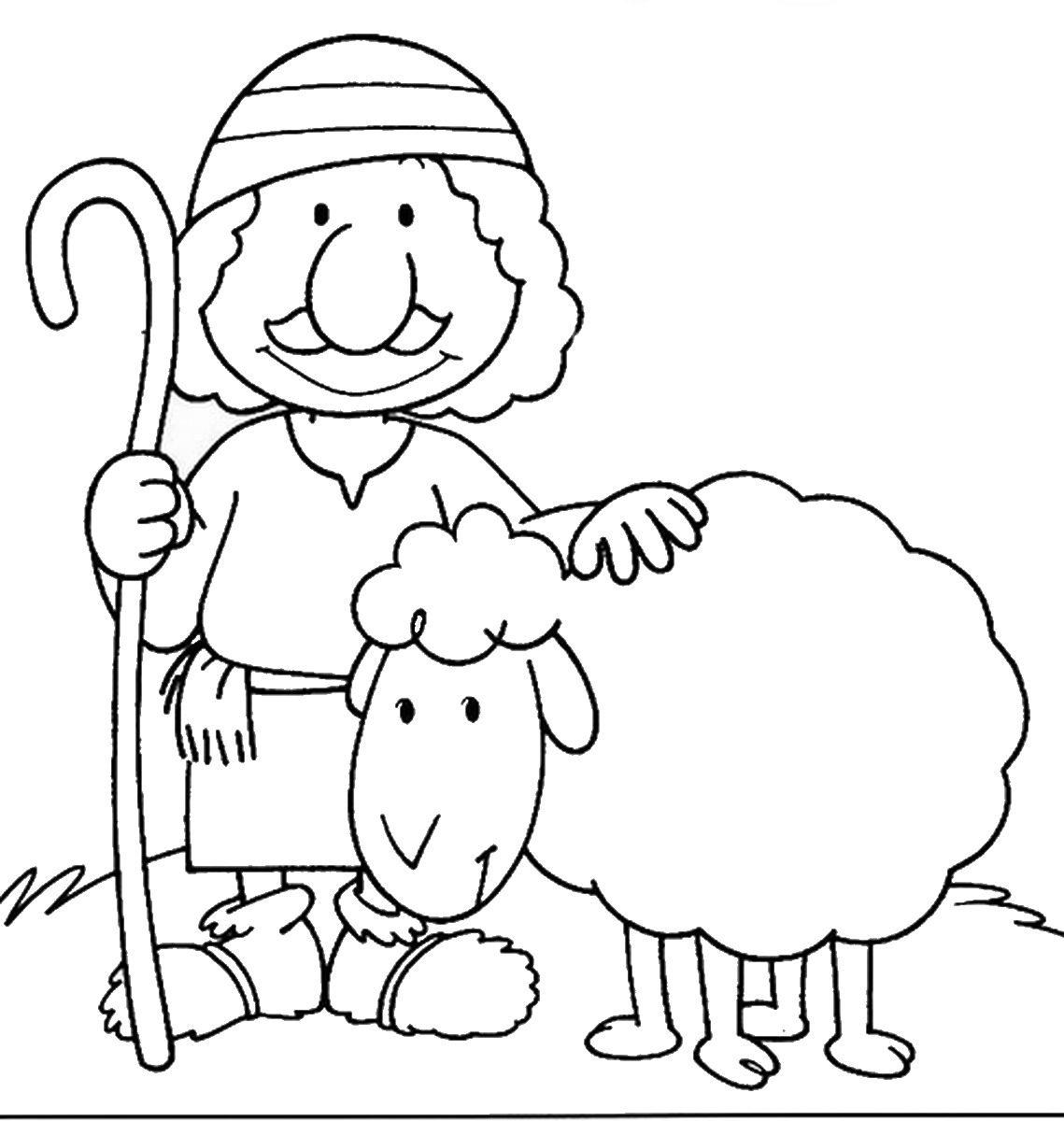 תוצאת תמונה עבור דפי צביעה של כבשים Bible School Crafts Bible