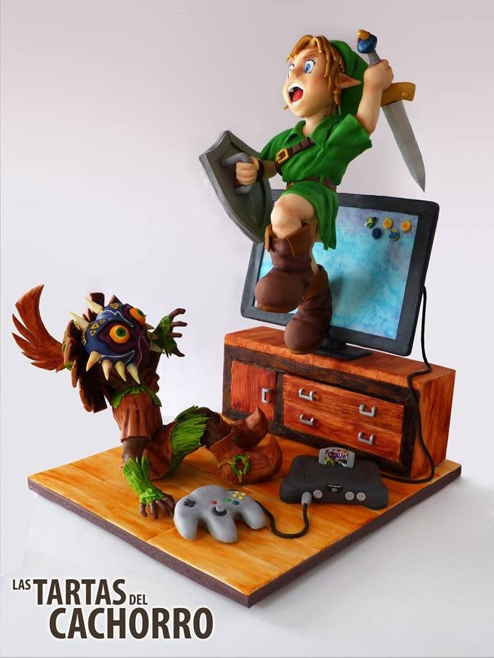 This;Legend Of Zelda Cake; Features Link Popping Out Of A TV
