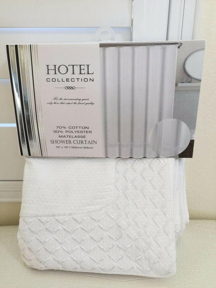 Hotel Collection Luxury Diamond Weave Bath Shower Curtain