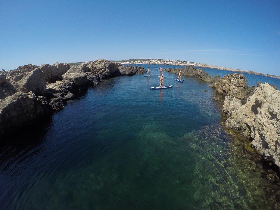 Salida en SUP con Paddle Surf Menorca