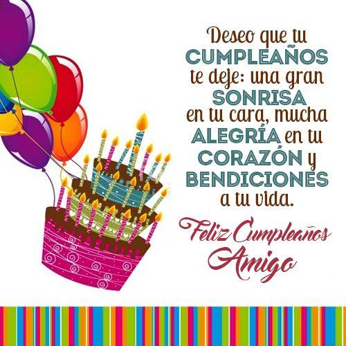 Frases Para Felicitar Cumpleaños A Un Amigo Corazonjpg 500