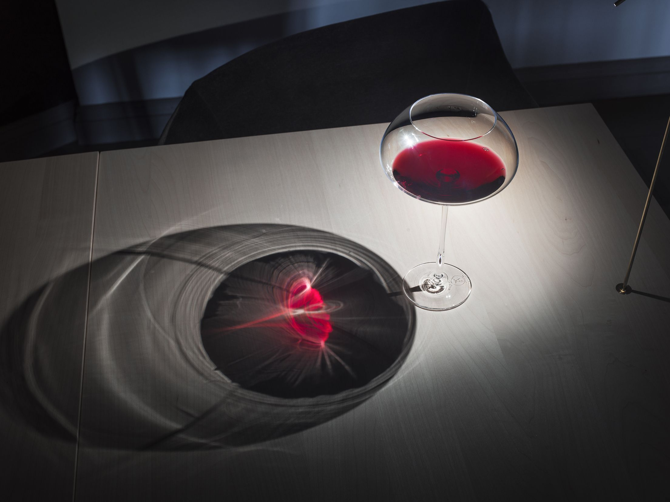 Finnjävel restaurant designed by Ateljé Sotamaa. Red Moon glass for aged wine. Photo by Kimmo Syväri. #ateljesotamaa #ateljésotamaa #finnjävel #finnjavel #finndining #finnishdesign #kivisotamaa #tuulisotamaa
