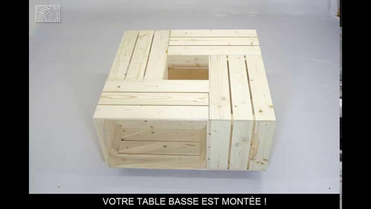 table basse avec caisse en bois / caisse a pommes | idées pour la