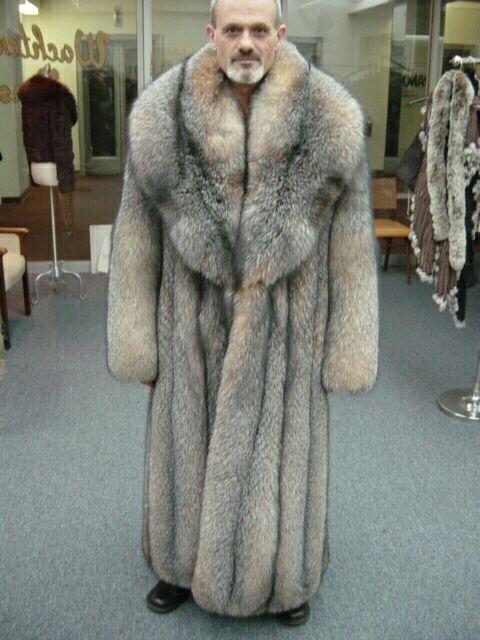 12d745ed8 Massive Men's Crystal Fox Coat | Fashion | Fox fur coat, Mens fur, Coat