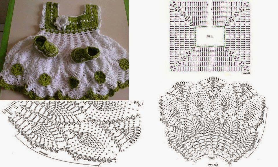 Pin de Albana en vestidos crochet bebe | Pinterest | Para bebes ...