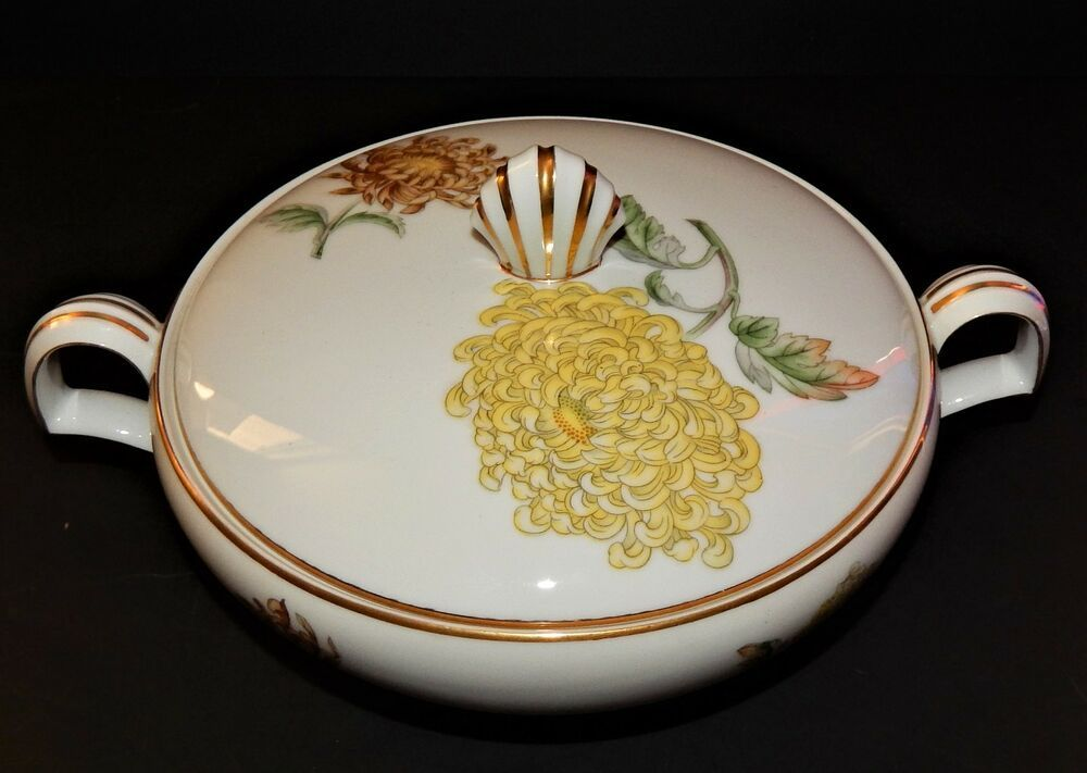 Details About Kent Verona Round Covered Vegetable Bowl Occupied Japan Chrysanthemum Gold Rim Vegetable Bowl Gold Rims Occupied Japan