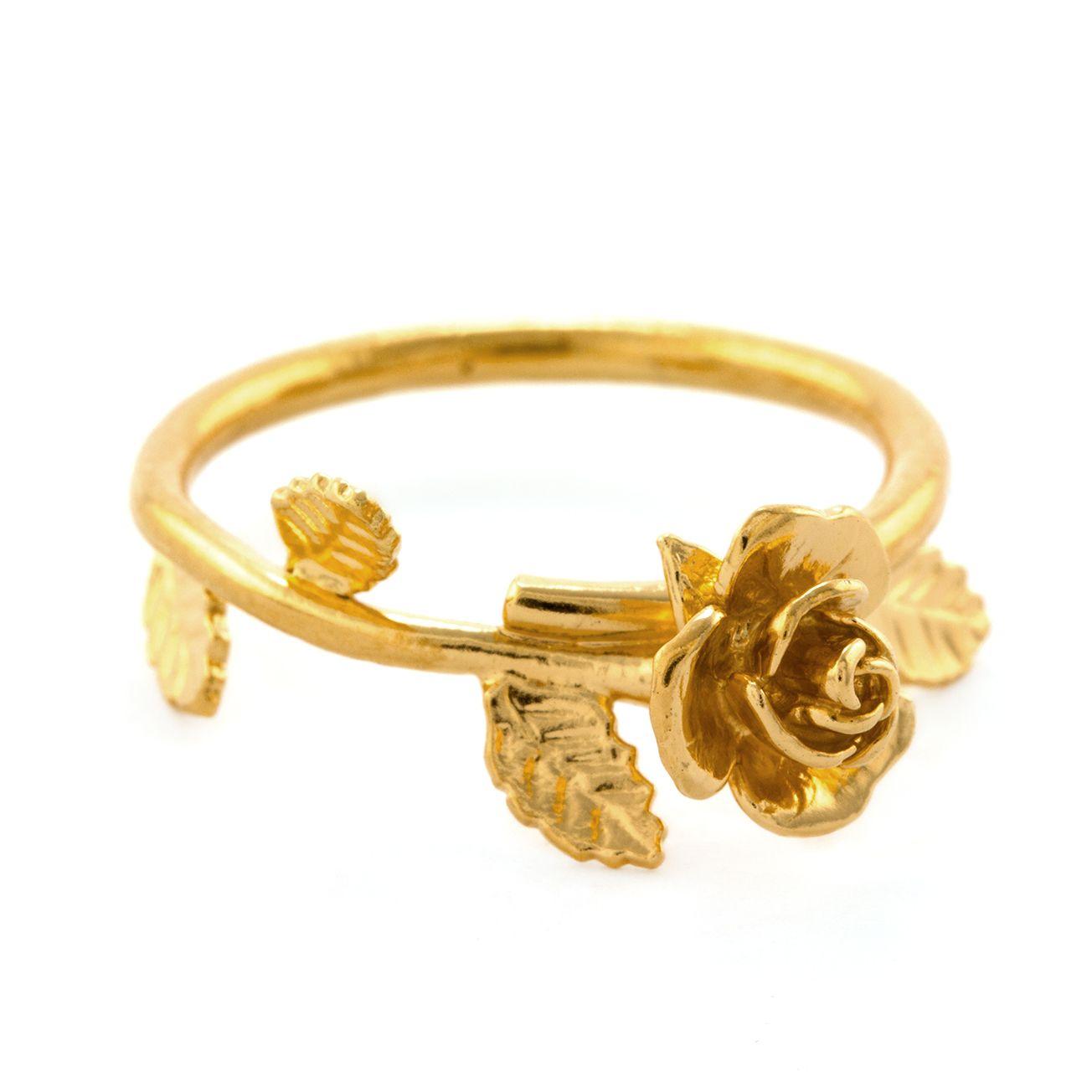 Alex Monroe | 25th Anniversary | Rose & Vine Ring