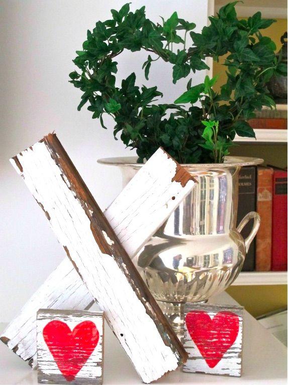 Love Of Home Simple Beautiful Living Rustic Valentine Decor Rustic Valentine Valentine S Day Diy