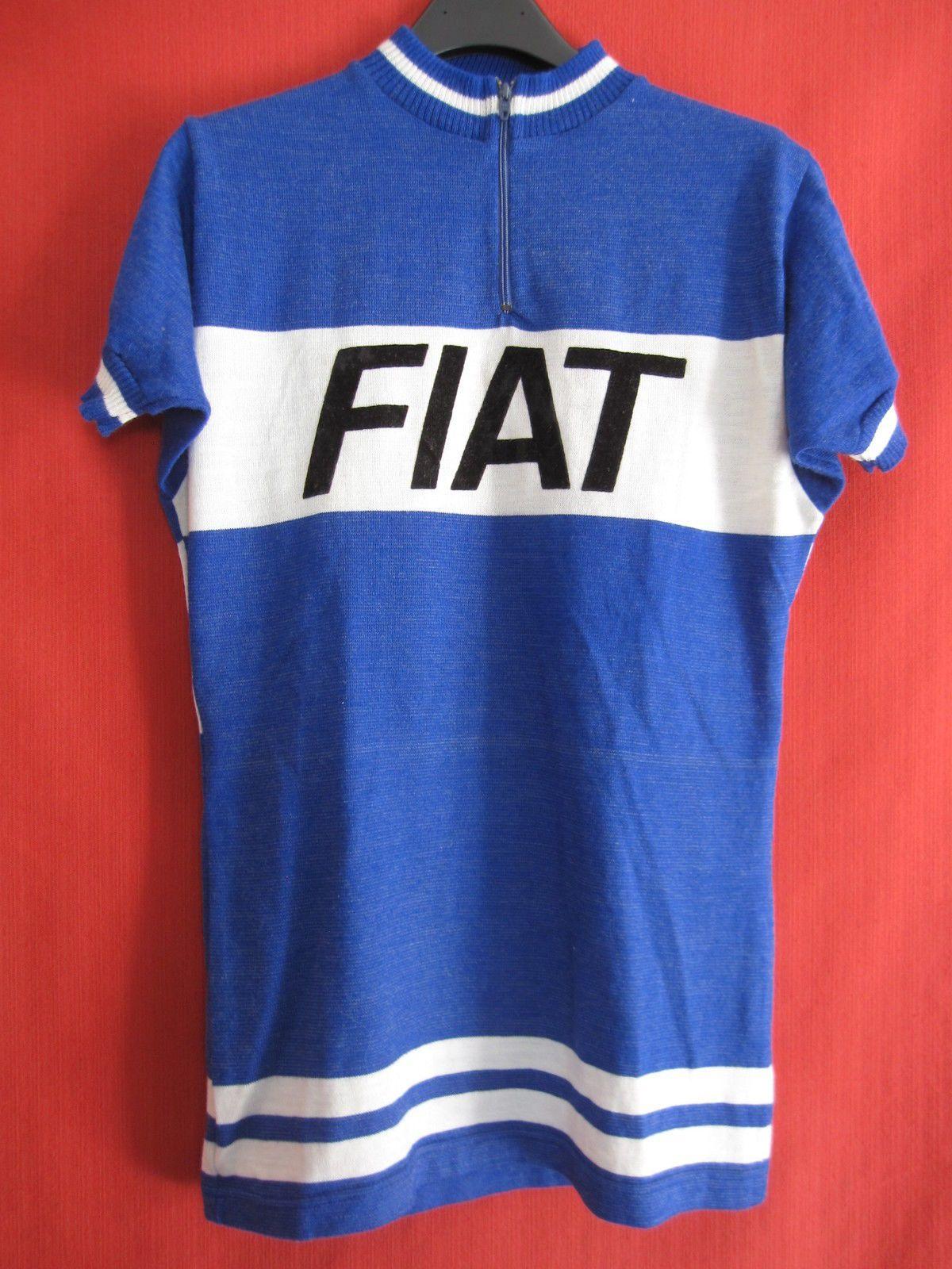Maillot cycliste FIAT Tour de France 1978 Acrylique Jersey Vintage - M  14e919248