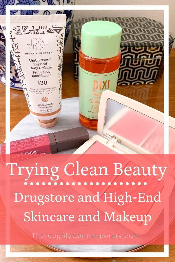 Testing Clean Beauty Drugstore and Highend Clean