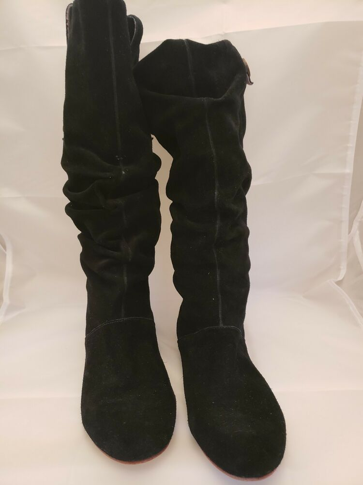 cc406732bd4 UGG AUSTRALIA 1948 HIGHKOO II TALL BLACK SUEDE SLOUCH BOOTS WOMEN SIZE 7.5   fashion  clothing  shoes  accessories  womensshoes  boots (ebay link)